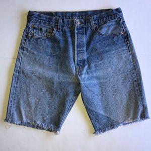 Levi Strauss 501 Cutoff Denim Jean Shorts